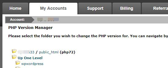사이트그라운드 PHP 버전 변경하기