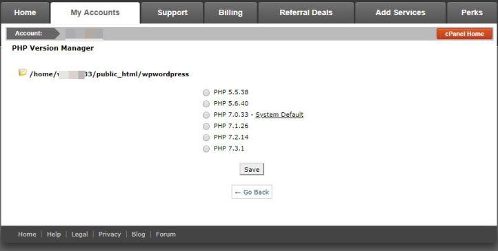 해외호스팅 SiteGround PHP 버전 변경하기