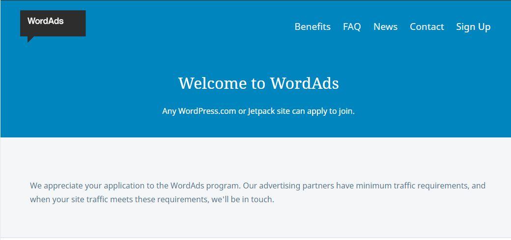 WordAds 광고 신청